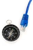 cable kompasowy komputer Obraz Royalty Free
