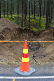 Cable laying Royalty Free Stock Photography