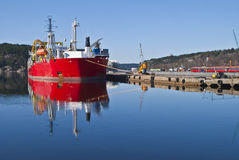 Cable laying vessel. Stock Image