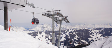 cable lift, Alps, Austria Stock Images