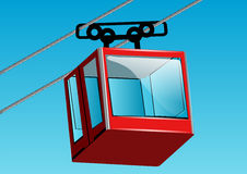 Cable lift car Stock Photo