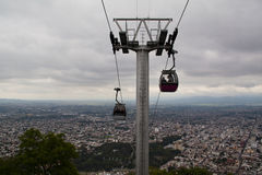 Cable lift. In Salta, Argentina Royalty Free Stock Images