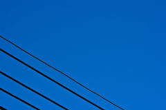Cable line in sky Royalty Free Stock Photo