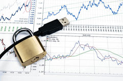 Cable locked Royalty Free Stock Images
