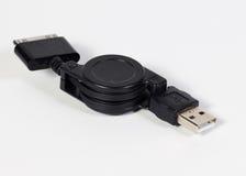 Cable micro del usb Foto de archivo libre de regalías