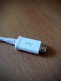 Cable micro del usb Imagen de archivo libre de regalías