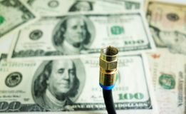 Cable money Royalty Free Stock Images