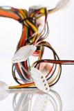 Cable multicolor del ordenador fotos de archivo libres de regalías