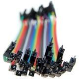 Cable multicolor del ordenador Foto de archivo libre de regalías