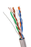 Network Cable CAT5 on white Stock Images