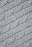 Cable Pattern Knit Background Royalty Free Stock Photography