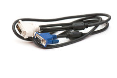 Cable with plug Royalty Free Stock Images