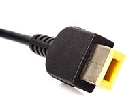 Cable plugged usb close-up Stock Image