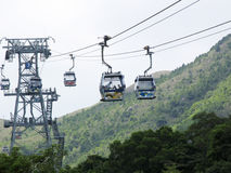 Cable Car Post Mountain Royalty Free Stock Images