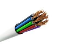 Cable quebrado Imagen de archivo libre de regalías