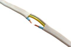 Cable quebrado Fotografía de archivo