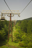 Cable railway. Cabin on a cable railway in hakone mountain Stock Photo