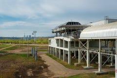 Cable railway above Volga river in Nizhny Novgorod Stock Photography