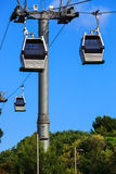 A cable railway Stock Image