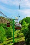 Cable railway Stock Photo
