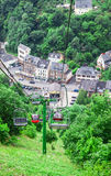 Cable railway in Cochem on the Moselle Royalty Free Stock Photos