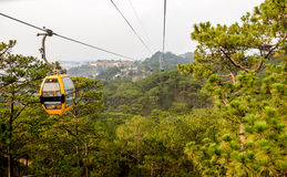 Cable railway in Dalat, Vietnam Royalty Free Stock Photo