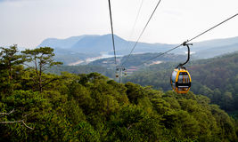Cable railway in Dalat, Vietnam Royalty Free Stock Image