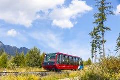 Cable railway in High Tatras, Slovakia Stock Image