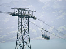 Cable railway Royalty Free Stock Images