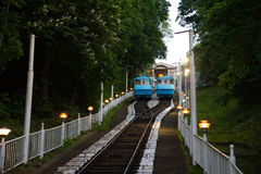 Cable railway in Kyiv, Ukraine Royalty Free Stock Photography