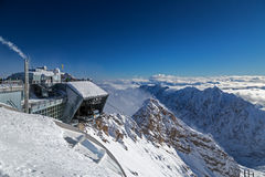 Cable railway station at the peak of Zugspitze, Germany Stock Photography