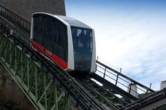 Cable Railway to the Hohensalzburg Fortress stock image