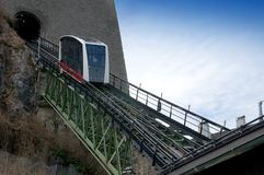 Cable Railway to the Hohensalzburg Fortress Stock Photo