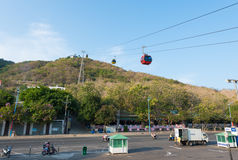 Cable railway in Vung Tau, southern Vietnam Stock Photography