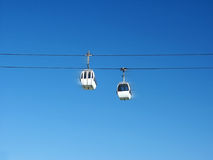 Cable railways. With Cloudless Blue Sky in Background Stock Image