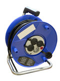 Cable reel. Blue cable reel for mobile working stock photo