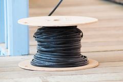 Cable reel background Royalty Free Stock Photo