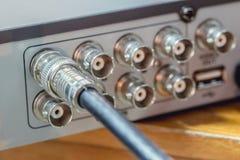Cable RG6 RGB TV del CCTV coaxial Imágenes de archivo libres de regalías