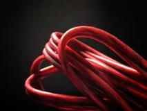 Cable rojo Foto de archivo libre de regalías