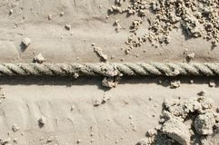 Cable. On sand beach in sunny day Royalty Free Stock Image