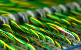 Cable sand panel Stock Photo