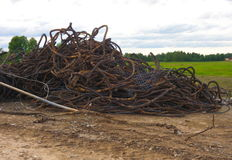 Cable scrap Royalty Free Stock Photo