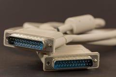 Cable serial fotografía de archivo