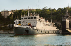 Cable ship Setun in the Bay Black Sea. Stock Images