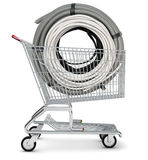 Cable in shopping cart Stock Images