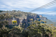The cable sky way tour at Blue mountains national park, New south wales, Australia. royalty free stock photography