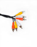 Cable with sockets. On a white background Royalty Free Stock Image
