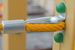 Cable splicing around a thimble. Closeup of a strong rope and thimble Royalty Free Stock Images