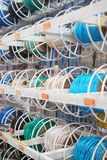 Cable spools in store Royalty Free Stock Images