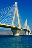 Cable-stayed bridge. The Rio-Antirrio, cable-stayed bridge in Greece royalty free stock photos